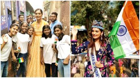 Manushi Chhillar spreads menstrual hygiene awareness on 'Beauty with a Purpose'tour