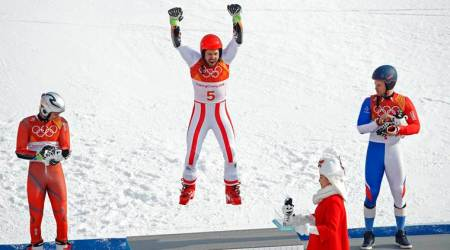 Winter Olympics 2018: Austria's Marcel Hirscher wins second gold with giant slalom triumph