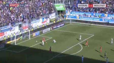 Goalkeeper goes for water and gifts opponents equaliser in Germany, watchvideo