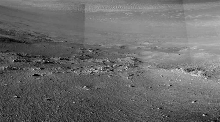 NASA Opportunity Rover, NASA Mars rovers, Opportunity rover 5000 days, stone stripes, wind patterns, Martian sol, water streams, Persevernce Valley, Earth years, Endeavour Crater
