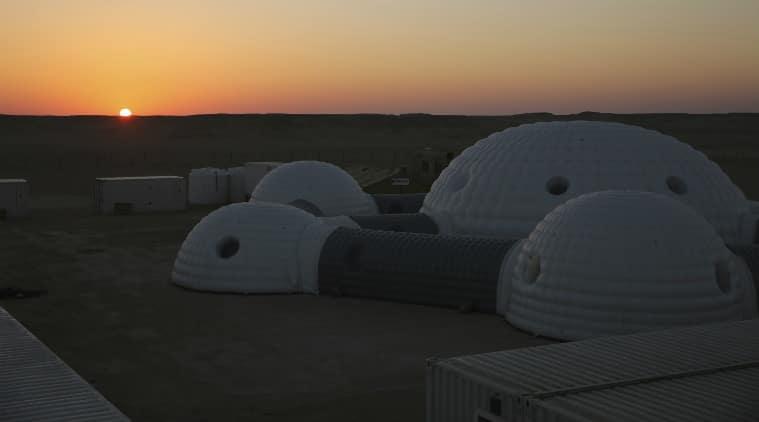 Mars manned missions, NASA Mars mission, geo-radars, Mars habitable areas, SpaceX Falcon Heavy launch, Dhafar Desert simulation, Mars mapping, Elon Musk SpaceX, Blue Origin mission, Arabian Peninsula, International Space Station