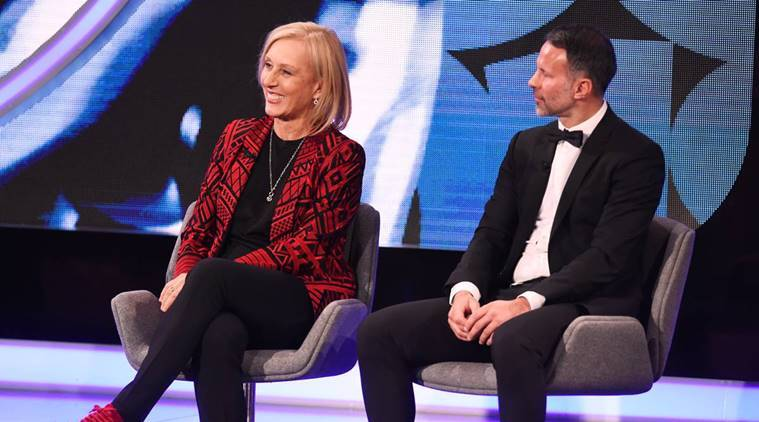 Martina Navratilova and Ryan Giggs at Laureus Sports Awards