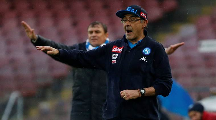 Maurizio Sarri, Maurizio Sarri Napoli, Napoli Maurizio Sarri, Europa League, Europa League news, Europa League updates, SPAL, sports news, football, Indian Express