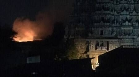 Fire breaks out in Madurai Meenakshi temple, 40 shops gutted