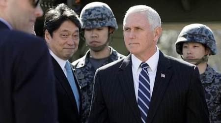 Pence views Japan's missile defence with North Korea on agenda for talks