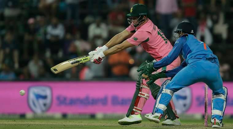 David Miller against India in the fourth ODI