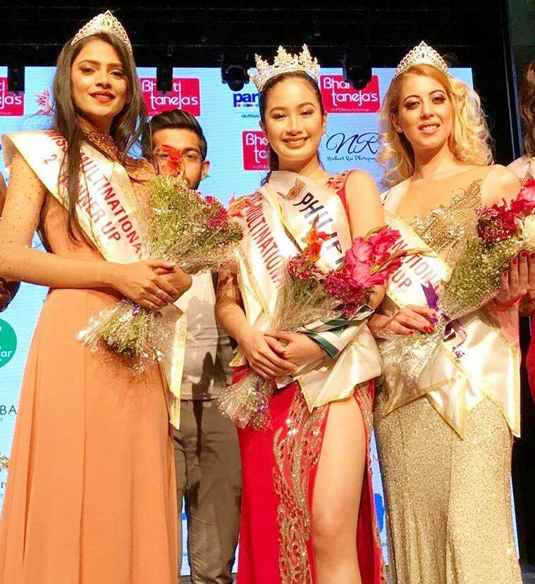 Miss Multinational, Sophia Senoron, Miss Philippines Sophia Senoron, Miss Germany Saskia Kuban, Miss India Shefali Sharma, National Pageant Director Arnold Vegafria, Teresita Marquez, beauty pageants, beauty pageants 2018, indian express, indian express news