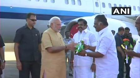 PM Modi in Tamil Nadu LIVE UPDATES: PM reaches Chennai to launch Amma scooter scheme for women