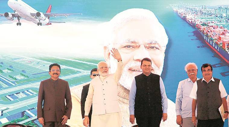 Navi Mumbai airport project, Navi Mumbai airport, Sena leaders arrested, Sena supporters arrested, Navi Mumbai airport protest, PM Narendra Modi, Narendra Modi, Narendra Modi At Mumbai, Magnetic Maharashtra investors summit, Mumbai News, Latest Mumbai News, Indian Express, Indian Express News
