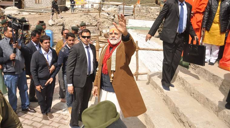 narendra modi, pm narendra modi, pm modi kedarnath visit, kedarnath,  india news, indian express