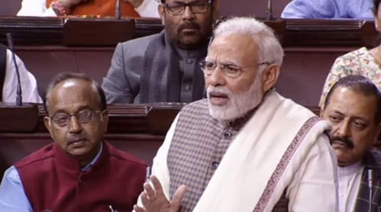 PM Modi in Rajya Sabha