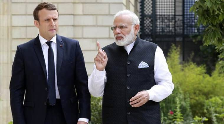 emmanuel macron, macron india visit, narendra modi, international solar alliance, french president emmanuel macron, pm modi, france india relations, solar power