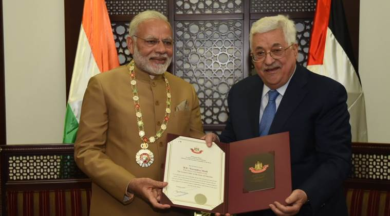 Modi calls for 'independent' Palestine soon