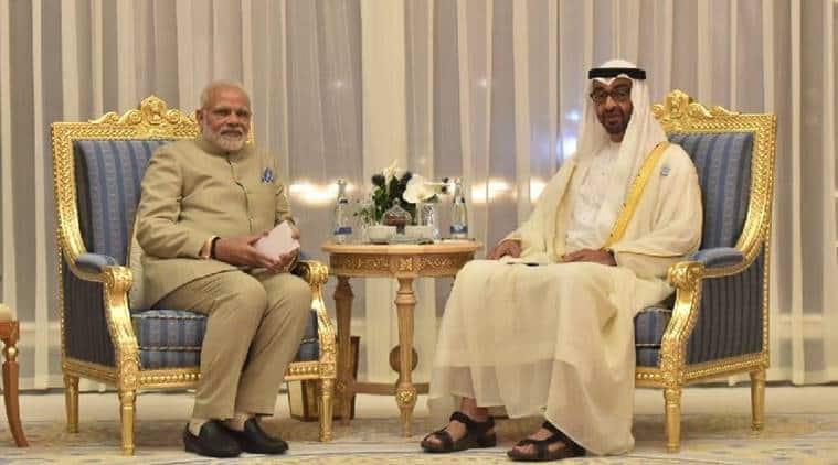 narendra modi, narendra modi in UAE, India-UAE relations, Mohammed bin Rashid Al Maktoum, PM Modi in Dubai, Modi dubai temple, Modi in UAE live updates, first hindu temple in abu dhabi, modi in oman live updates, PM Modi in muscat