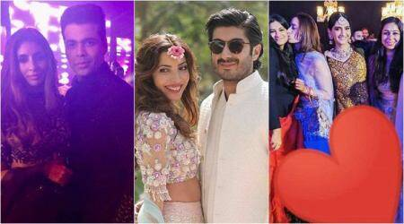 Arjun, Khushi, Sonam and Bollywood celebrities at Mohit Marwah's sangeet and mehendi ceremony