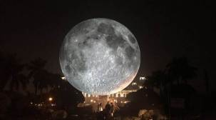 Giant replica of moon unveiled in Kolkata's VictoriaMemorial