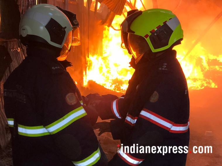 Mumbai Fire, Mankhurd Fire, Mankhurd Shop Fire, Maya Hotel Shop Fire, Mankhurd Maya Hotel Shop Fire, Mumbai News, Latest Mumbai News, Indian Express, Indian Express News