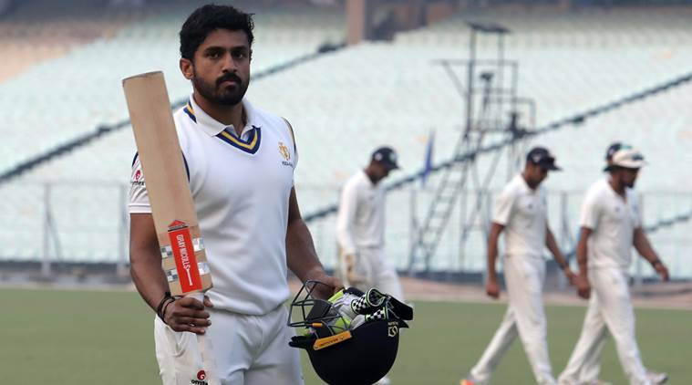 Karun Nair, Karun Nair runs, Karun Nair batting, Karun Nair updates, Karun Nair news, Vijay Hazare Trophy 2018, sports news, cricket, Indian Express
