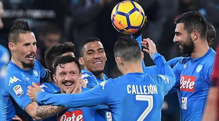 Napoli crush Cagliari, extend Serie A lead