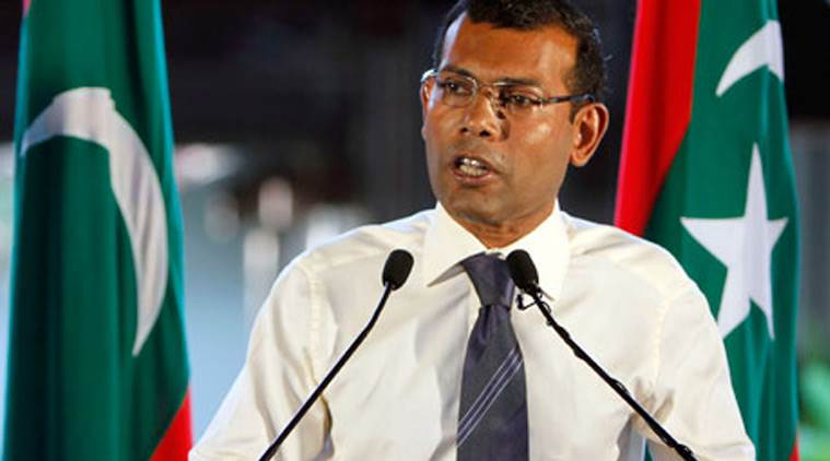 mohamed nasheed, maldives president jail, mohamed nasheed jail, maldives president jail suspend, maldives ex president court, maldives ex president sentence, maldives new president, indian express news