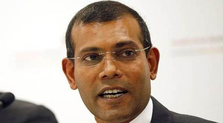 Exiled former Maldives president Mohamed Nasheed, Mohamed Nasheed, Maldives Crisis, Maldives Emergency, President Abdulla Yameen, China, India News, Indian Express, Indian Express News