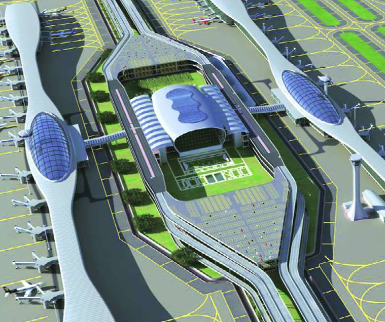 mumbai international airport, mumbai airport, zaha hadid, zaha hadid architects, navi mumbai international airport, navi mumbai