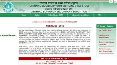 CBSE releases NEET UG 2018 application form, check eligibility criteria here