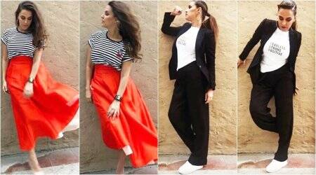 Neha Dhupia shows us how to perk up an outfit with minimal effort