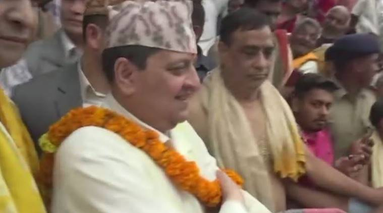 Nepal's King Gyanendra offers puja at Jagannath Temple