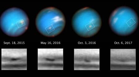 NASA's Hubble telescope captures Neptune's mysterious shrinking storm