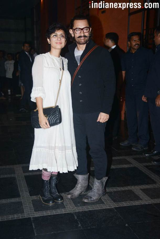Aamir Khan, Zaira Wasim attend Secret Superstar success bash