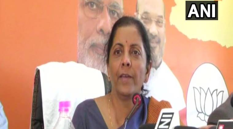 Union minister Nirmala Sitharaman said the BJP was not averse to having post-poll alliance in Meghalaya. (Photo: Twitter/ANI)