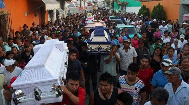 oaxaca earthquake, mexico city earthquake, oaxaca mexico city, mexico, world news, indian express news