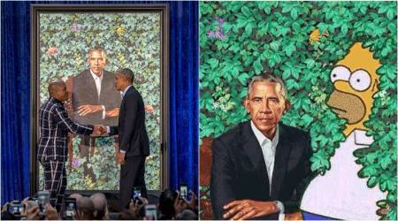 Barack Obama's presidential portrait starts a meme war, and it has 'The Simpsons' too