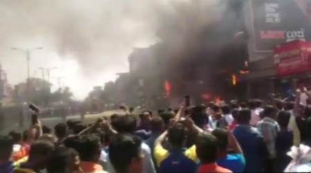 Massive fire breaks out at technological hub in Gujarat, no casualties reported