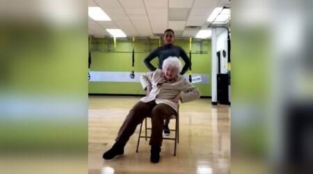 WATCH: This 93-year-old woman's workout with her trainer will give you fitness goals