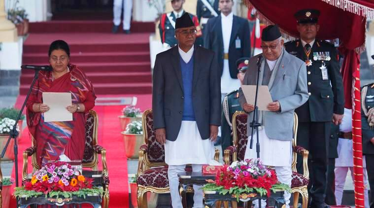 KP Oli takes over as Nepal's Prime Minister