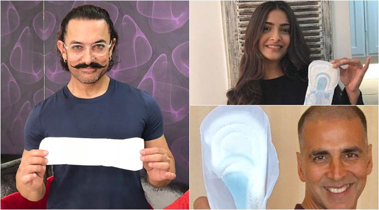 twinkle khanna aamir khan and akshay kumar take up padman challenge