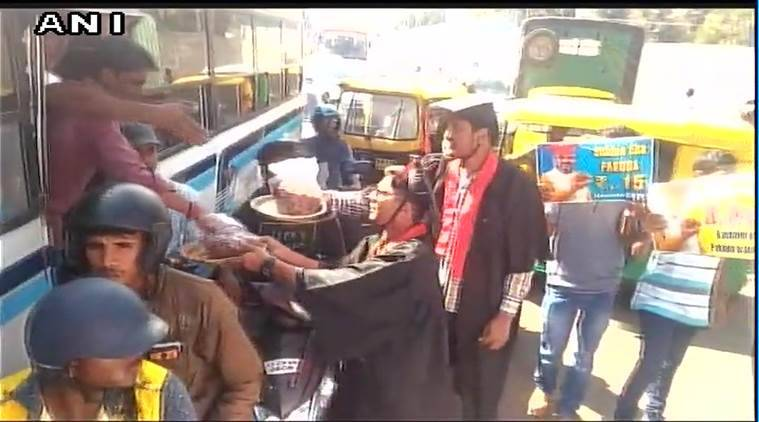 Students sell Pakodas outside venue of Modi's rally in Bengaluru