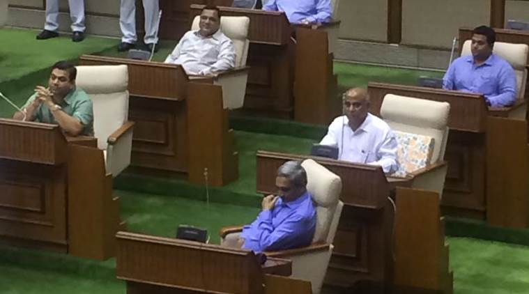 Goa Chief Minister Manohar Parrikar at the Goa state assembly on Thursday. (Express photo/Smita Nair)