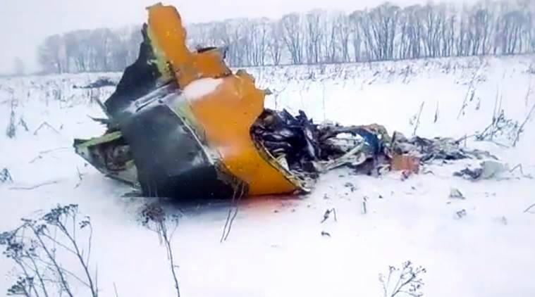 Russia plane crash, plane crash in Russia, Russia passenger plane crash live updates, Moscow aircraft crash, Saratov Airlines, Saratov Airlines crash, Moscow crash, indian express