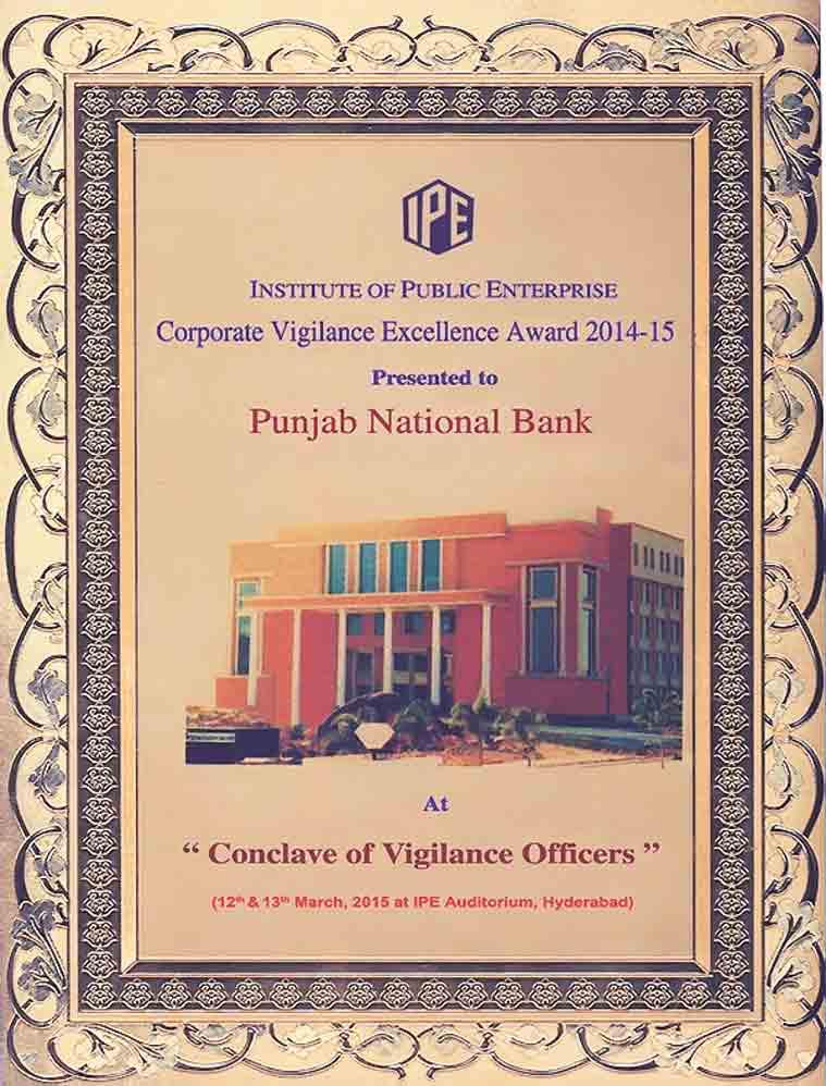 The irony: In three years, PNB won three awards for vigilance