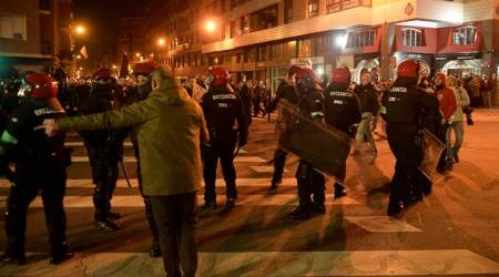 Europa League: Police officer dies after fan violence before game inSpain