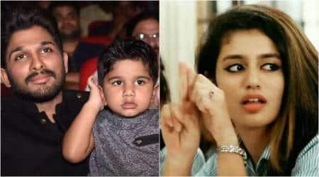 Allu Arjun and son Ayaan give their own twist to Priya Prakash Varrier's finger gunact