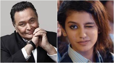 "Rishi Kapoor joins Priya Prakash Varrier's fandom, she thanks the ""Prince of Romance"""