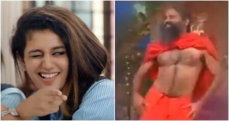 Priya Prakash Varrier's wink gets a fan in Baba Ramdev in this hilarious spoof video