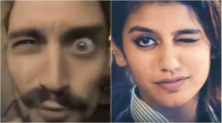 Who has the better wink? Priya Varrier or thisguy?!