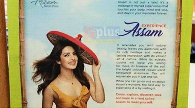 priyanka chopra, priyanka chopra controversy, priyanka chopra frock controversy, priyanka chopra in assam tourism ad, priyanka chopra frock controversy, twitter reactions, indian express, indian express news