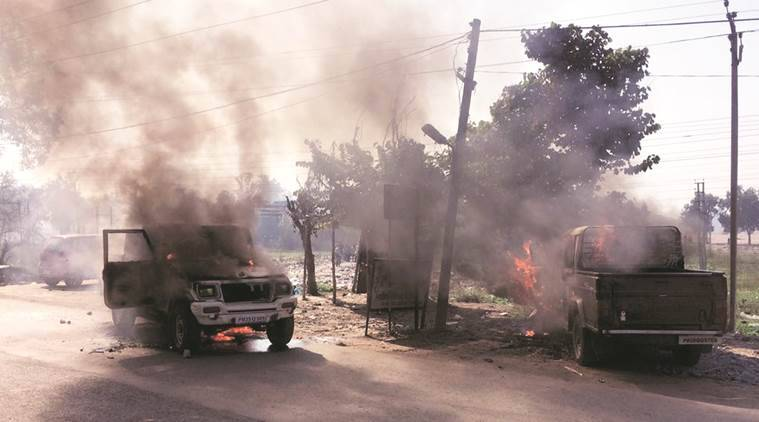 Punjab violence, Dera Baba Nanak, men ran over by SUV, Two men murdered, Punjab police, India news, Indian express news