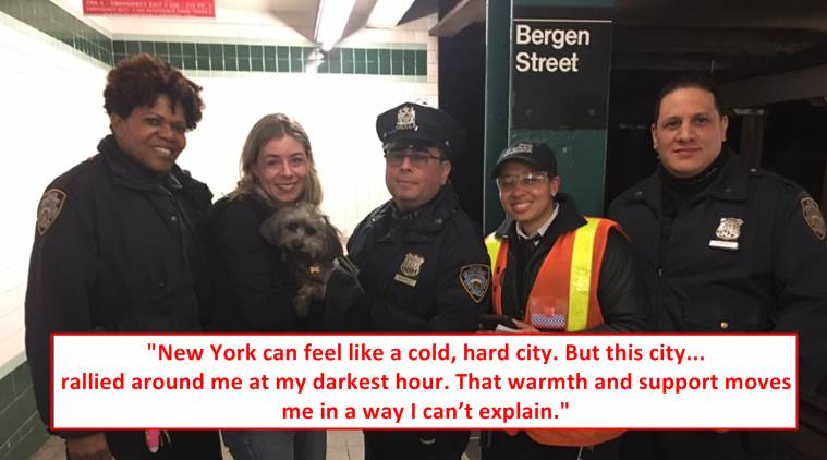 animal story, kindness story, animal kindness story, puppy lost in new york subway, indian express, indian express news